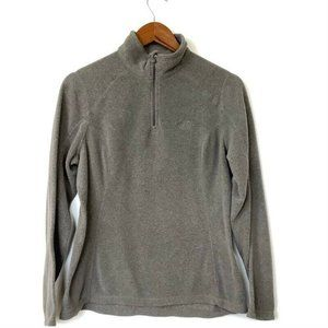 North Face Womens Fleece Pullover Sweater Gray